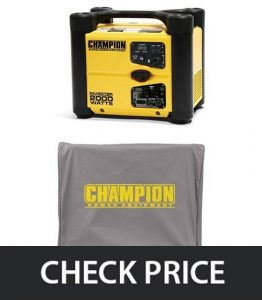 Champion-73536i-1700-Running-Watts2000-Starting-Watts-Gas-Powered-Portable-Inverter-and-Cover-Bundle