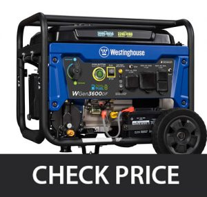 Westinghouse WGen3600DF Dual Fuel Gas and Propane