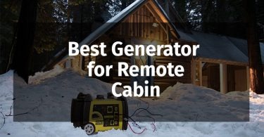best generator for remote cabin
