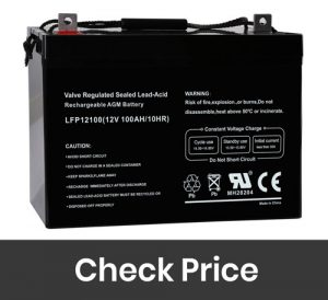 Weize 12V 100AH Deep Cycle AGM SLA VRLA Battery for Solar Wind RV