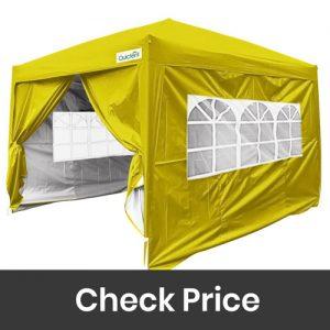 Quictent Silvox 4 Detachable Sidewalls Instant Folding Outdoor Canopy Waterproof