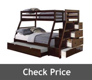 Acme Jason Bunk Bed with Storage Ladder and Trundle