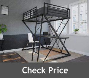 DHP X Loft Metal Bunk Bed with Desk