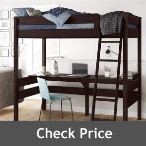 Dorel Living Harlan Loft Bed with Study Desk