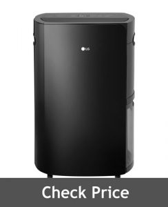 LG High Efficiency PuriCare Black 70 Pint Dehumidifier