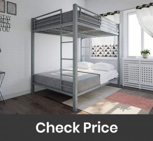 DHP Full Over Full Metal Bunk Bed with Sturdy Frame
