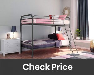 DHP Twin Over Twin Bunk Bed with Ladder