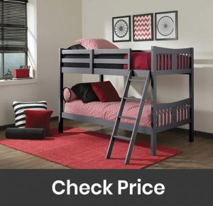 Storkcraft Hardwood Twin Bunk Bed with Safety Rail