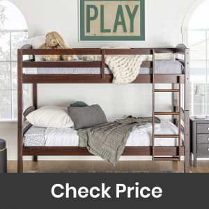 WE Furniture Classic Wood Twin Bunk Kids