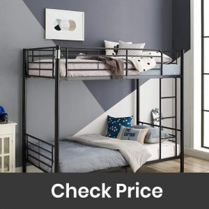 WE Furniture Modern Metal Pipe Twin Bunk Kids Bed