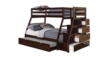 twin over full bunk beds with drawers