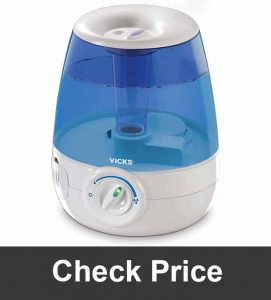 Vicks Filter Free Ultrasonic Visible Cool Mist Humidifier